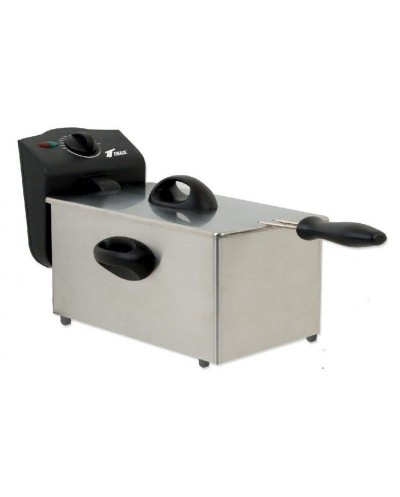 Polished stainless steel electric fryer. Capacity: 1.75L....