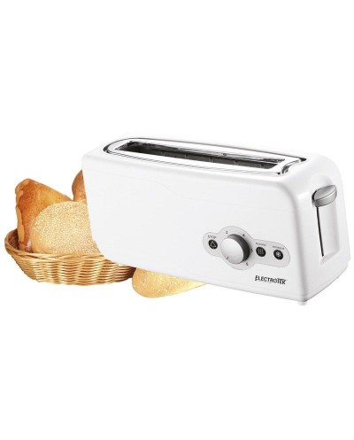 One wide slot, two slice cool touch Toaster. ELECTROTEK...
