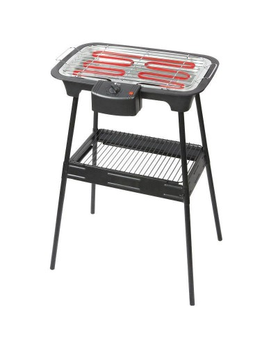 ELECTRIC BARBECUE WITH SUPPORT, ADJUSTABLE THERMOSTAT,...