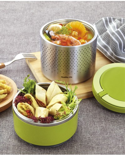 Double lunch box, 1.5L capacity, THULOS TH-LB15