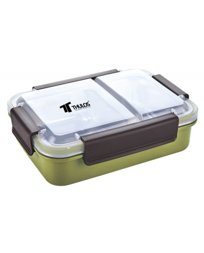 TH-LB75 - Fiambrera de 750ml, con bandeja interior de acero inoxidable de 2 compartimentos. THULOS TH-LB75 - Thulos