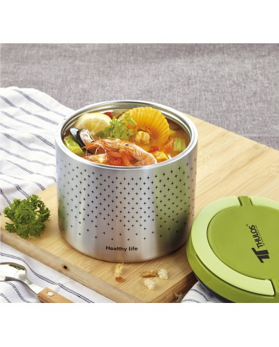 Lunch box with stainless steel body. capacity 1.0L,...