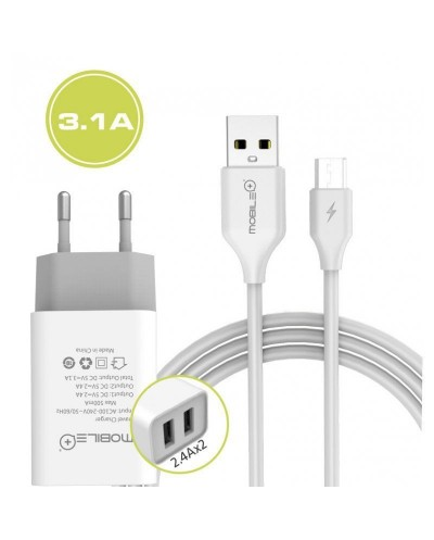 Wall Charger with USB output & MicroUSB to USB  cable....
