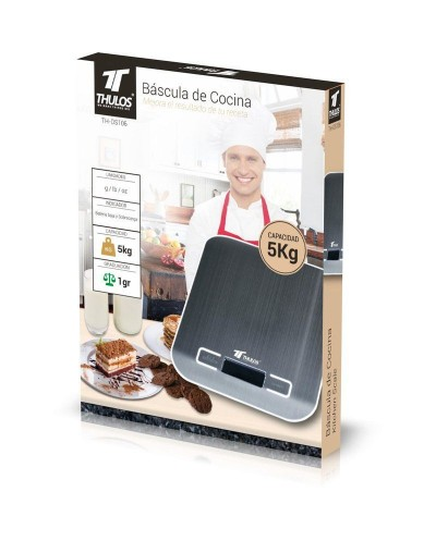 TH-DS106 - Balanza de cocina digital, 5Kg de capacidad. THULOS TH-DS106 - Thulos