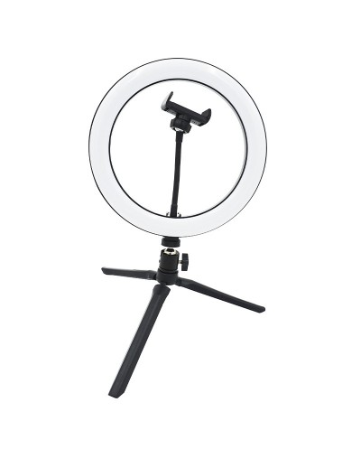 LED Ring Light, 26cm, with phone support and tripod....