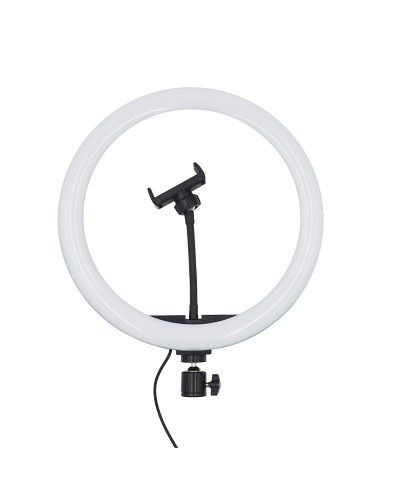 LED Ring Light, 33 cm, with phone support. MOBILE+ MB-RL33