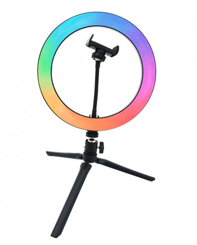 RGB LED Ring Light 10¨, 26 cm. With Phone Support &...