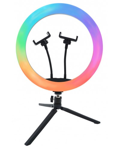 RGB LED Ring Light 12¨, 32 cm. With 2 Phone supports and...
