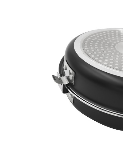 Special double pan for Tortillas and Crepes, two sizes: Ø20 and Ø24 cm. THULOS TH-DFP20 / TH-DFP24 Thulos Sartenes de Alumini...